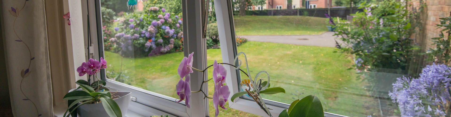 Garden view at Priest Croft