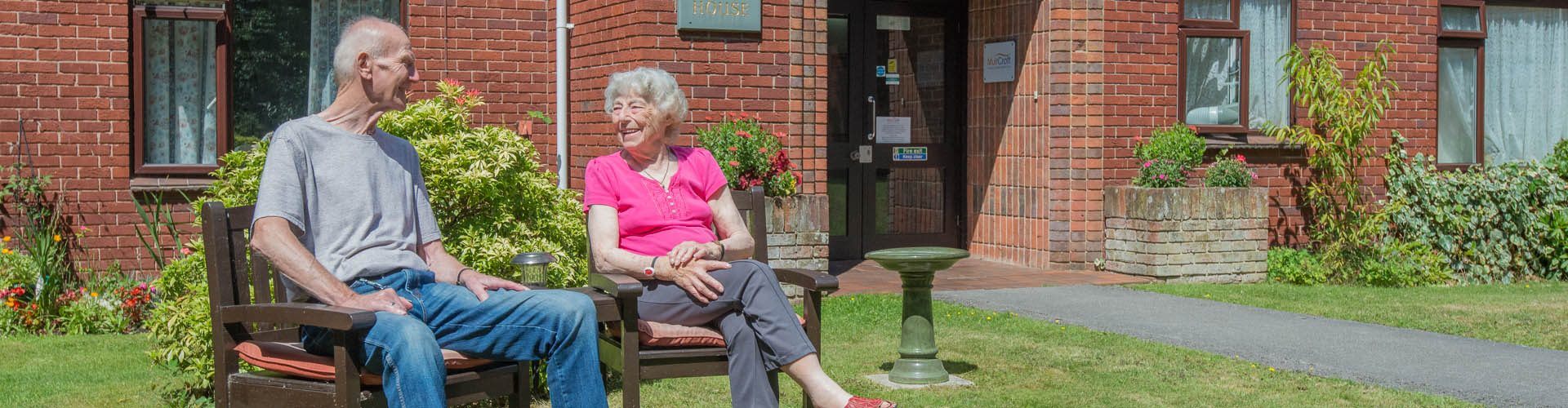 Tenants enjoying warm weather at Muir House